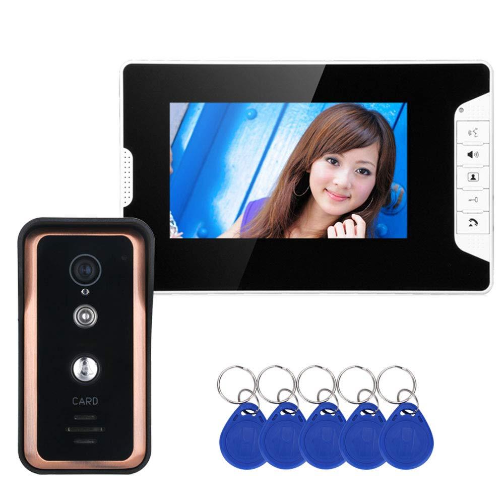 JINPENGPEN 7 inch Intelligent Video intercom Access Control System HD 1000TVL Infrared Camera