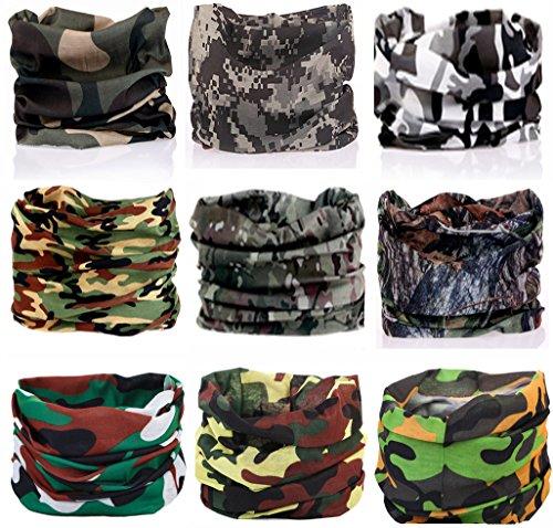 dwear Wide Headbands Scarf Head Wrap Mask Sweatband -12 in 1 Multifunctional Sport Headband Neck Warmer for Yoga, Camping, Fishing, Hiking, Running, Motorcycling, Skiing ()