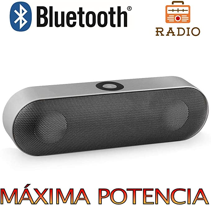 Altavoz Bluetooth 6W,Unicview NBY-18 Plata Estéreo Altavoces ...