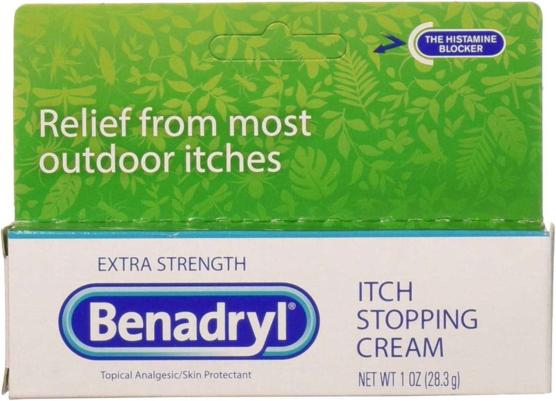 Benadryl Itch Stopping Cream Extra Strength, 1 Oz (Pack of 3)