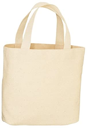Amazon.com: Canvas Tote Bag - Natural Color - 13-1/2 x 14 x 3-1/4 ...