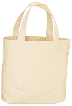 Amazon.com: Canvas Tote Bag - Natural Color - 13-1/2 x 14 x 3-1/4 ...