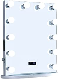 ReignCharm Hollywood Vanity Mirror Bluetooth Audio-Enabled LED Light Bulbs, Border-less