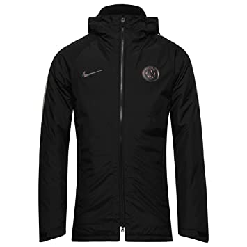 Nike M Jkt Sqd Sdf Chaqueta línea Paris Saint Germain, Hombre, Negro-(