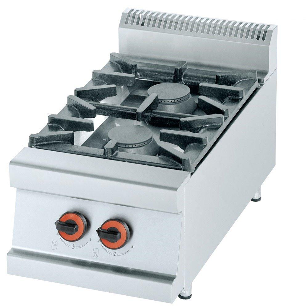 Macfrin R2S Cocina de Sobremesa a Gas 2 Fuegos 13 Kw ...