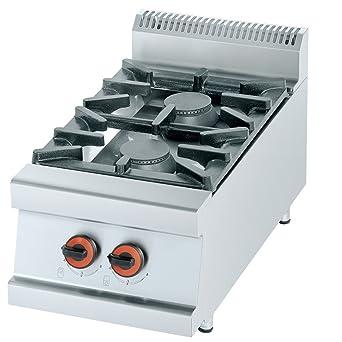 Macfrin R2S Cocina de Sobremesa a Gas 2 Fuegos 13 Kw