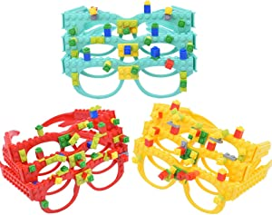 DIY Building Bricks Glasses Children's Early Education...