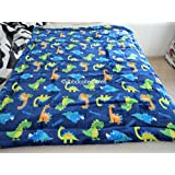 """2-ply Sherpa Baby Blankets for Toddler Boys (40""""x54"""")- HIGH Quality Plush Toddler Boy Blankets--Dinosaurs"""