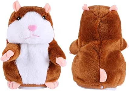Talking Hamster Repeats What You Say Plush Hamster Repeats Doll Toy Kid Nod Gift