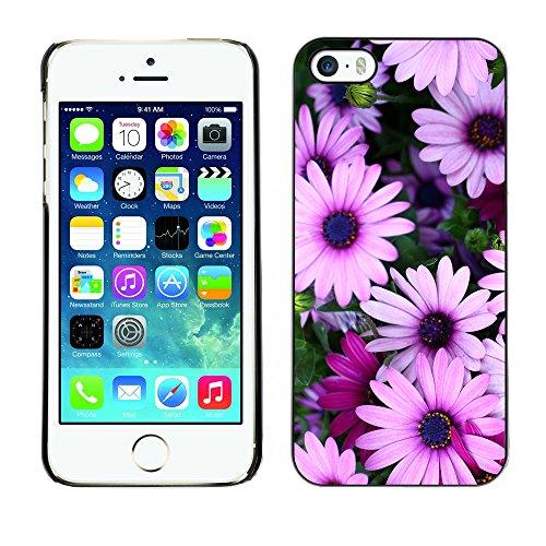 Premio Sottile Slim Cassa Custodia Case Cover Shell // V00001785 Fleurs // Apple iPhone 5 5S 5G