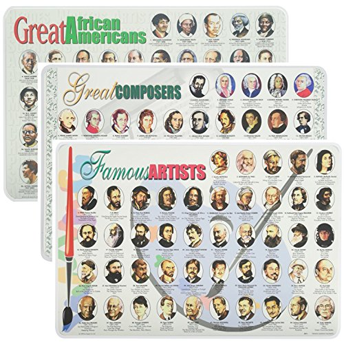 Famous American Artist (Painless Learning Educational Placemats Sets Great African Americans Famous Artists and Great Composers Placemat Non Slip Washable)