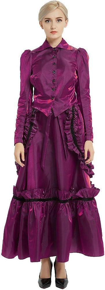 GRACEART Edwardian Robe Veste Et Jupe Costumes avec Agitation