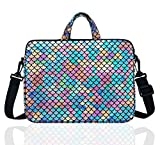 15.6-Inch Laptop Shoulder Carrying Bag Case Sleeve For 14' 15' 15.6 inch Macbook/Notebook/Ultrabook/Chromebook, Mermaid Scale (Colorful)