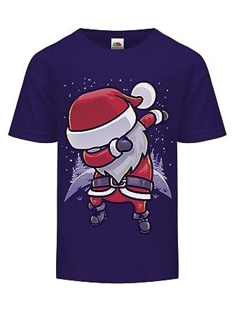 cfecf5ce Grindstore Chibi Santa DAB Kids Christmas T-Shirt Purple: Amazon.co.uk:  Clothing