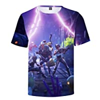 SIMYJOY Unisex Fortnite Fans Maglietta Stampa 3D T-Shirt Stampa Digitale Cool Gaming Tops per Uomo Donna Teen