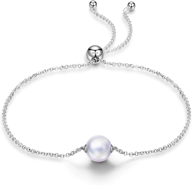 Susan Y Cadeau pour Maman Seulement toi Bracelet Femme Argent Sterling 925 Bracelet avec Perle Cadeaux pour les femmes 90