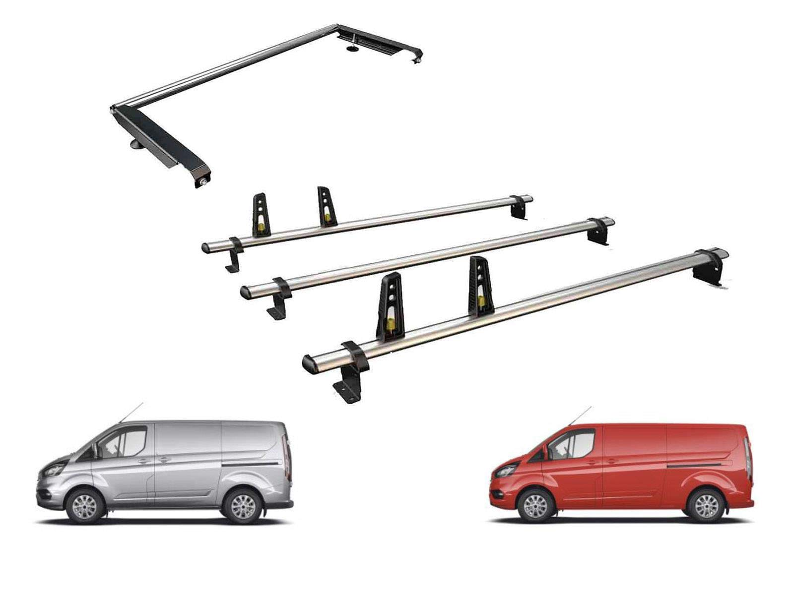 01-14 Rhino Delta Bar Rear Steel Ladder Roller System for Vauxhall Vivaro High Roof, LWB