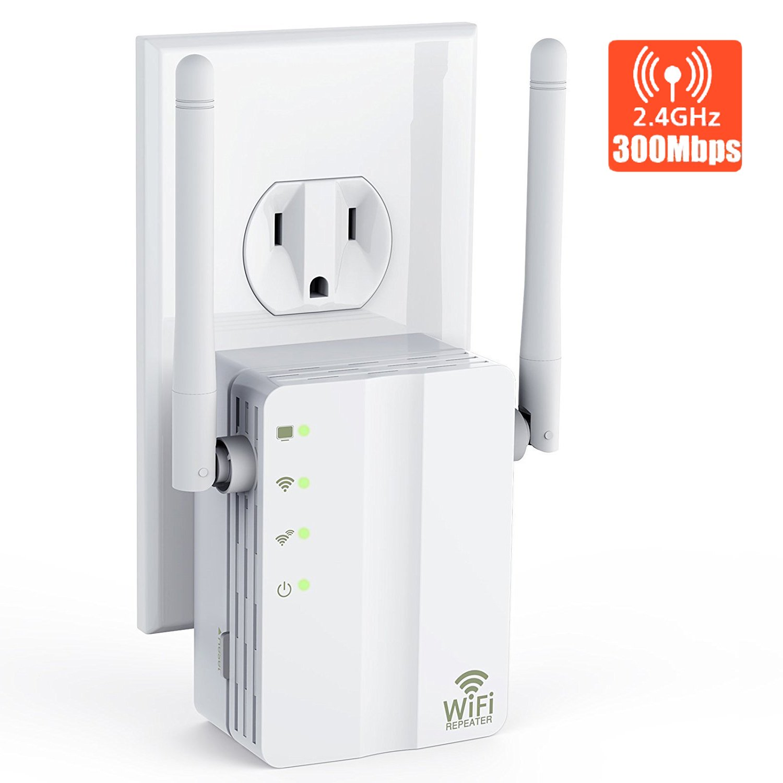 Yakalla WiFi Extender/2.4Ghz WiFi Range Extender/WiFi Signal Booster with Ethernet Port Long Range Extender- 360 Degree Full Coverage Up to 300 M by Yakalla