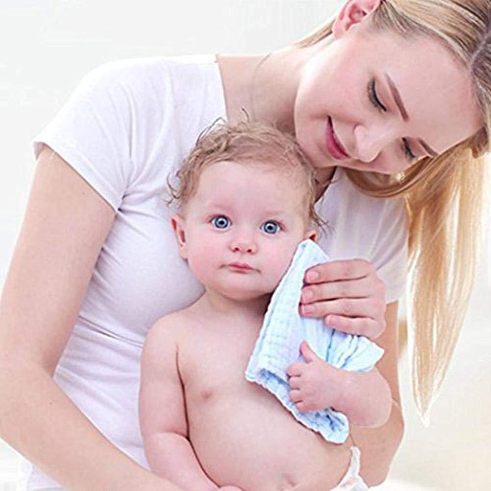 10 St/ücke Ultra Weiche Nat/ürliche Musselin Baumwolle Cartoon Gesicht Handt/ücher 30 cm Baby Zubeh/ör Taschentuch F/ür Baby Kinder Nishci Baby Musselin Waschlappen