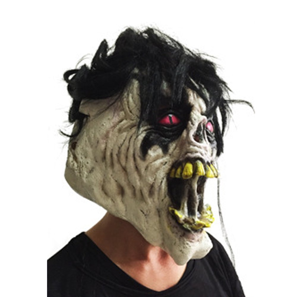 KTYX Halloween Ball Mask Long Hair Grimace Ojos Rojos Scary Masked Shows Shows Festival Dress Up Props Máscara