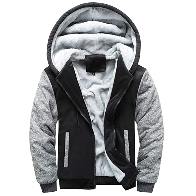 530f88d52 Men's Outerwear, Winter Clothes, Male Hoodie Winter Warm Fleece Zipper  Sweater Jacket Outwear Coat