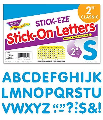 """TREND enterprises, Inc. Blue 2"""" STICK-EZE Stick-On Letters -  T-1787"""
