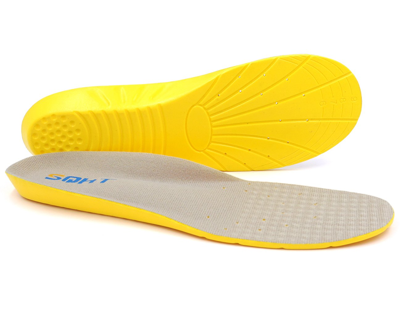 Athletic Running Shoe Insoles Comfort Foam Insert Providing Excellent Shock Absorption and Neutral Arch Support, Orthotic Insoles (M | 5~8.5 Men's/6~10 Women's)