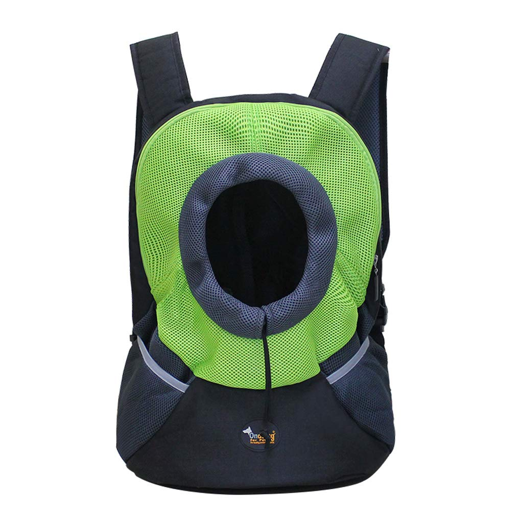 Green M Green M SXHDMY-Pet bag Cat and Dog Bag Pets Out Carrying Bag Cat Backpack Dog Backpack (color   Green, Size   M)