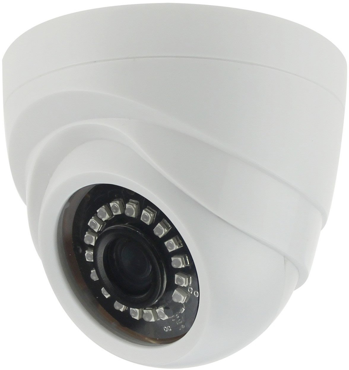 DHTek 2MP 4-in-1 HD-CVI TVI AHD 960H Vandal Dome Security Camera, OEM HAC-HDW1200E 2.8mm Wide Angle Lens, Weatherproof IR Night Vision 1080P Digital WDR CCTV Video Surveillance 2.4MP White 3.6mm