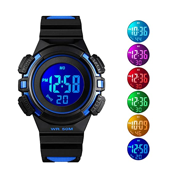 Kids Watches Waterproof Children Boys Student Waterproof Sports Watch Led Digital Date Wristwatch Select Gift For Kid Traveling Watches