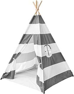 Sorbus Teepee Tent for Kids Play u2014 Includes Portable Carry Bag for Travel or Storage u2014  sc 1 st  Amazon.com & Amazon.com: DalosDream Teepee Tent For Kids-100% Natural Cotton ...
