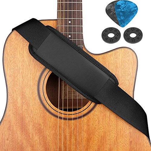 Eison Guitar Strap Shoulder Pad Comfortable Bass Strap for Electric Bass Acoustic Guitar, - Bass Strap Pad