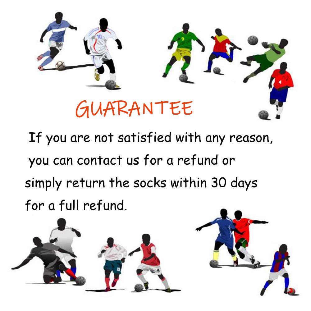 Socks Daze Knee High Sports Socks Fashion Cool Summer Long Tube Sports Football Socks for Men Women 2 Pack White Red
