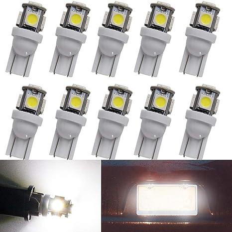 Biqing Luces led Coche t10 Blanco lampara led Coche Interior Bombilla Coche matricula