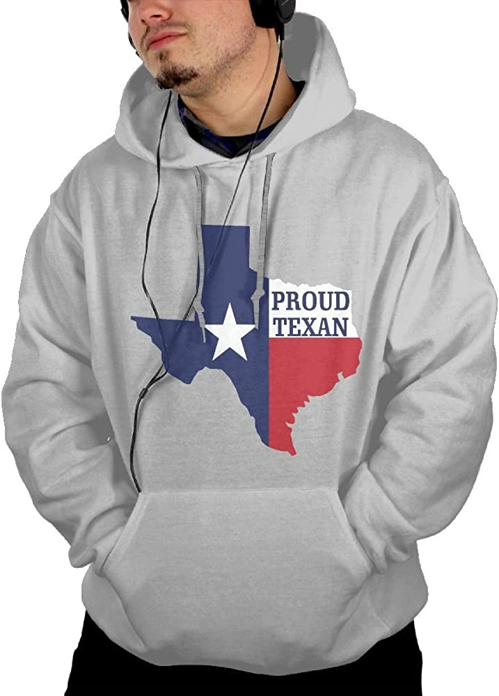 JIN YONG Proud Of Texas Men Cotton Long Sleeved Pullover Adult Hoodies Hooded Sweatshirt Graphic Hoodie