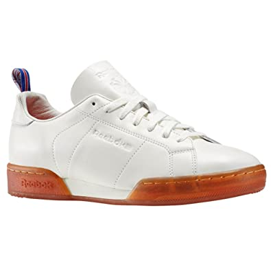 78000a823b27 REEBOK - Sneakers - Men - White NPC Leather Gumsole Sneakers for men - 44   Amazon.co.uk  Shoes   Bags