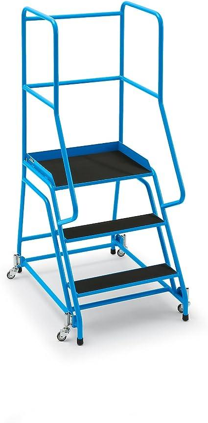 Escalera, móvil, con 3 niveles, 301400112 goma – Escaleras y patadas y pie Escaleras Plataforma Escaleras Escaleras