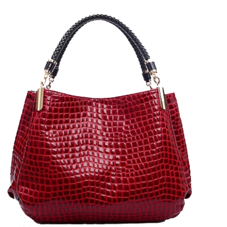 Angelliu Women's Solid PU Leather Handbag Cross Body Shoulder Bags