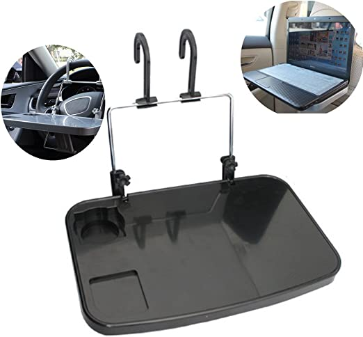 Autotisch Kfz Universalklapptisch Für Lenkrad Kopfstützenbefestigung Klapptisch Für Auto An Rücksitz Und Lenkrad Küche Haushalt