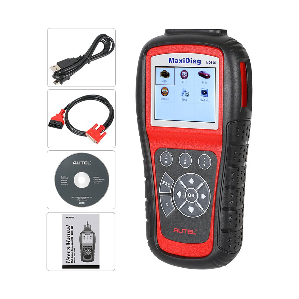 Autel MaxiDiag MD805 (Autel MD802)Scan tool All System Engine, Transmission, ABS, Airbag,EPB,OIL Service Reset & Electronic modules by Autel (Image #4)
