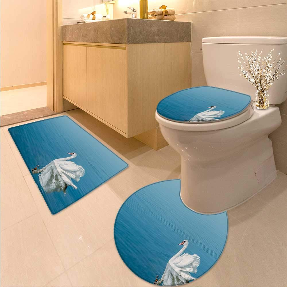 Amazon.com: Miki Da 3 Piece Toilet mat set Alps 3 Piece Shower Mat ...