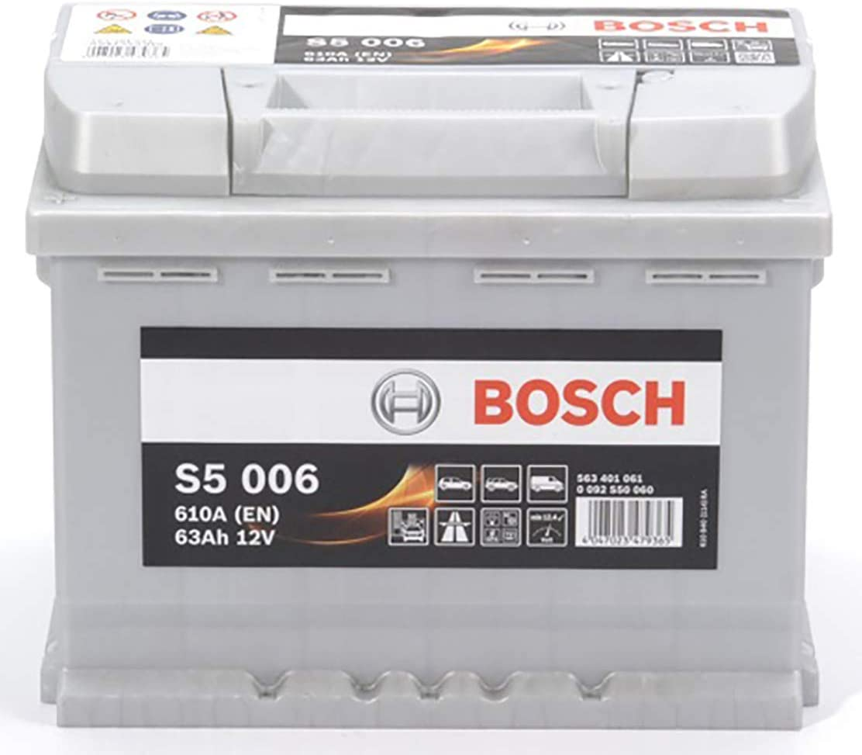 Bosch S5006 Bater/ía de autom/óvil 63A//h-610A