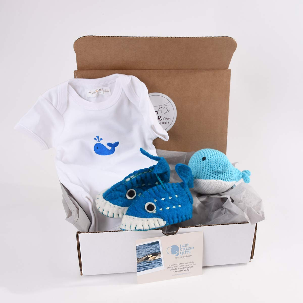 Baby Gifts That Give Back - Save The Whales Organic Toys and Clothes for Baby (0-3 Months)