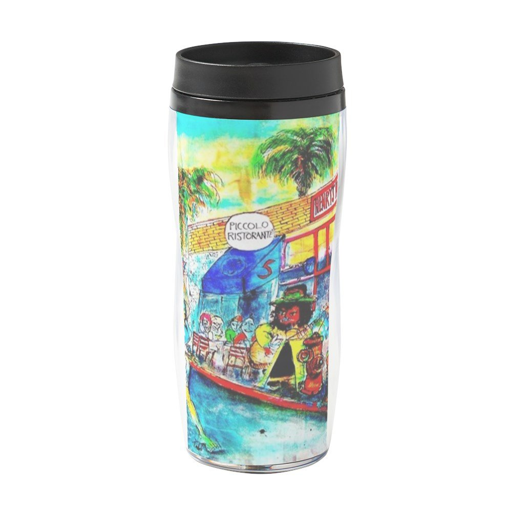 CafePress - Street Scene And Restaurant - 16 oz Travel Mug