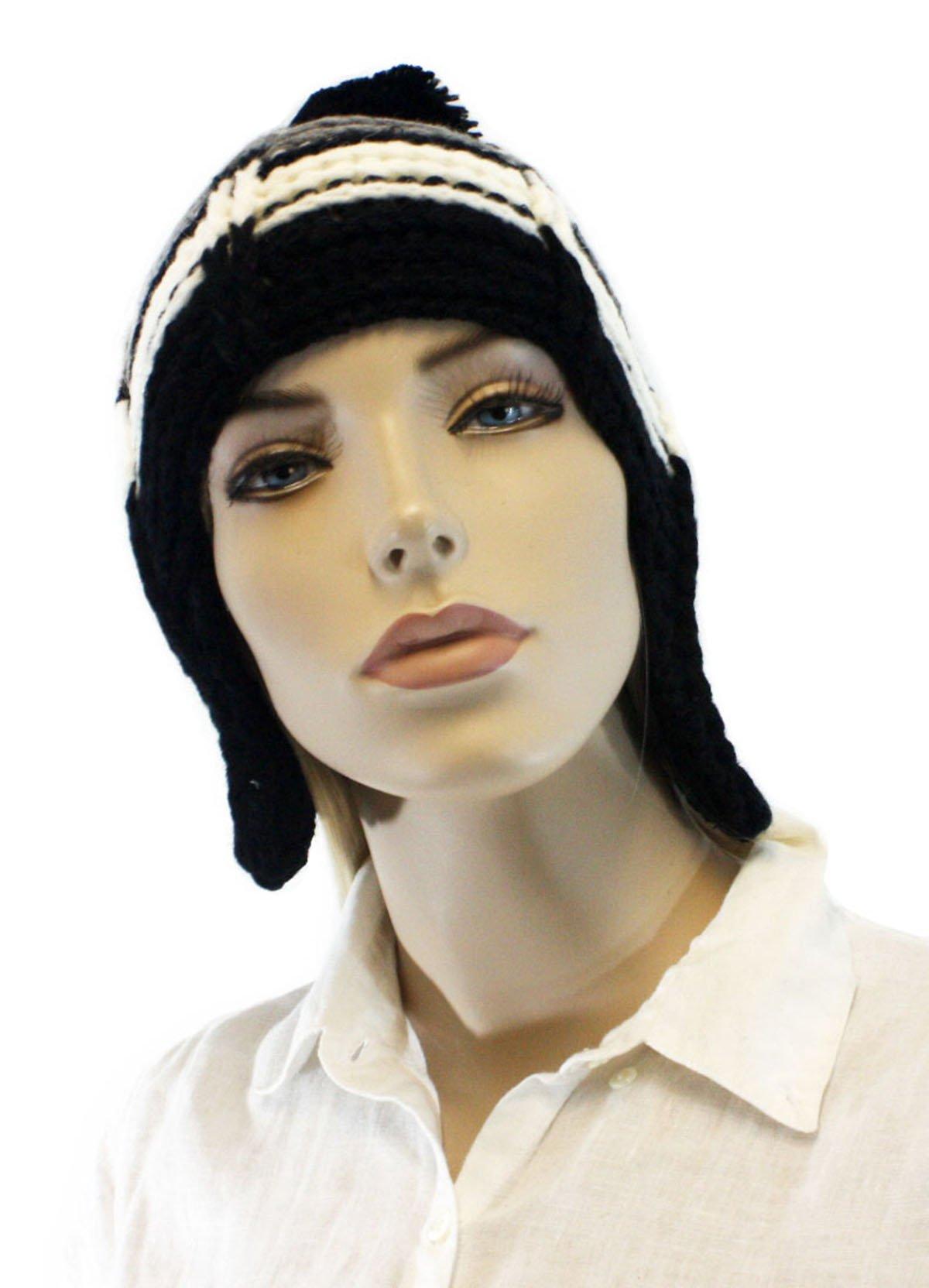 Fashion Dimensions Wild Black Trapper Hat with Top Pom