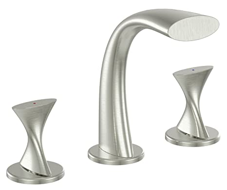 Cool Ultra Faucets Uf55513 Twist Collection Two Handle Widespread Bathroom Sink Faucet Brushed Nickel Interior Design Ideas Helimdqseriescom