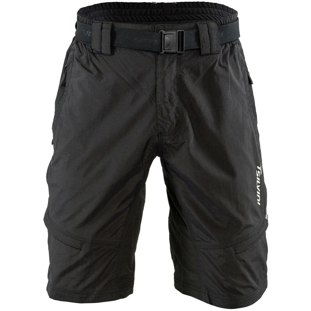 SILVINI Mountain Bike Shorts Rango with 6 Pockets for Men's MTB Cycling and All Other Outdoor Activities (Black 5XL)