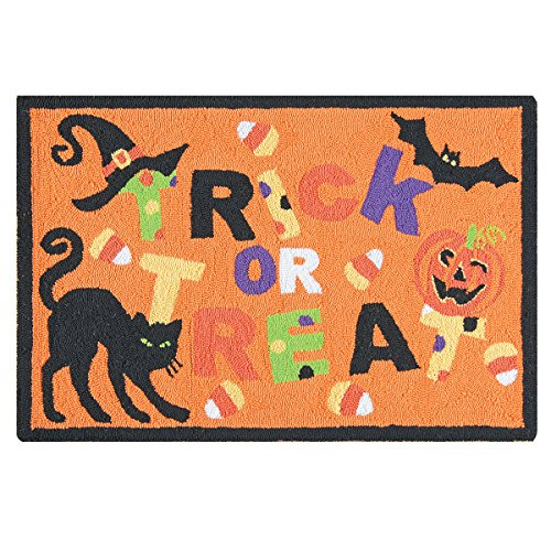 C&F Home Hooked Trick Or Treat Halloween Rug,