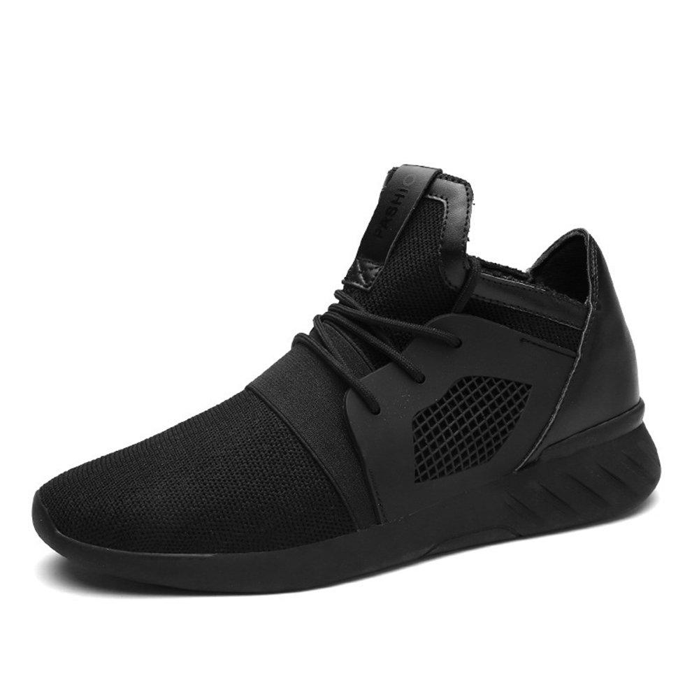 XIANV Sommer Herren Sneaker Mode Casual Schuhe Soft Breathable Mesh Fruuml;hjahr Lace-up Mauml;nner Schuhe Bequeme Schuhe Mauml;nner  39 EU|Schwarz