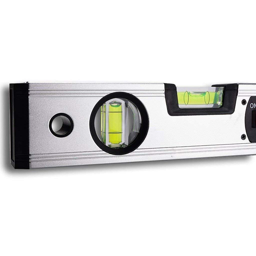 Niveau Magn/étique Num/érique Professionnel Indicateur De Niveau Dangle De Rapporteur De Niveau De LED Vert-Vert Outil De Niveau /Électronique Imperm/éable /À Leau Pente En Angle Sans Batterie